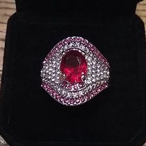 🆕 Ruby and CZ sterling ring 💍